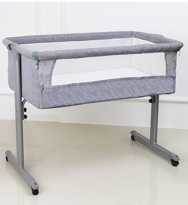 Connectable and Adjustable Folding Safety Crib Cradle - Mommies Care.