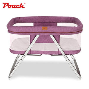 Multi-function folding newborn cradle bed portable With Bedside Support - Mommies Care.