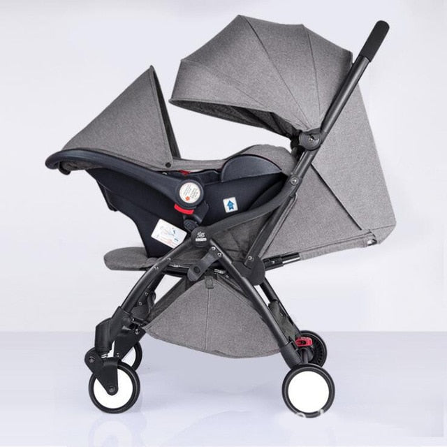 Baby stroller portable lightweight folding stroller 3 in 1 - Mommies Care.