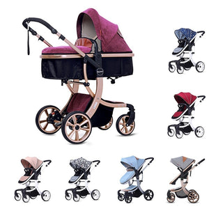 The 2 In 1 Baby Light Weight Two-sided Child Aluminium Alloy Stroller - Mommies Care.