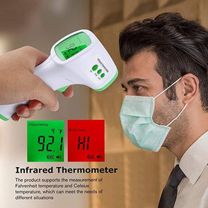 Infrared Non-Contact Digital Thermometer Instant Read LED Display Smart Thermometer Portable Body Forehead Thermometer