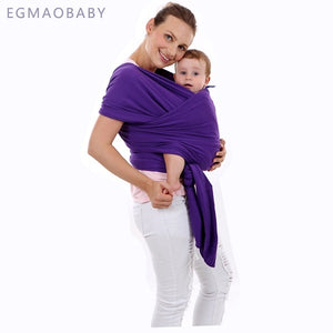Mommes Care Wrap Baby Carrier, Grey - Original Stretchy Infant Sling, Perfect for Newborn Babies and Children up to 35 lbs