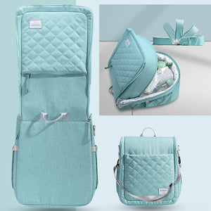 PORTABLE BABY DIAPER FOLDABLE TRAVEL CARRY-ON NEST BAG - Mommies Care.