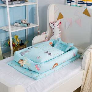 NEWBORN COTTON BABY NEST BED WITH QUILT - Mommies Care.