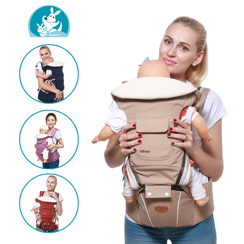 Multifunctional Baby Carrier Ergonomic Baby Sling Backpack 9 in 1 - Mommies Care.