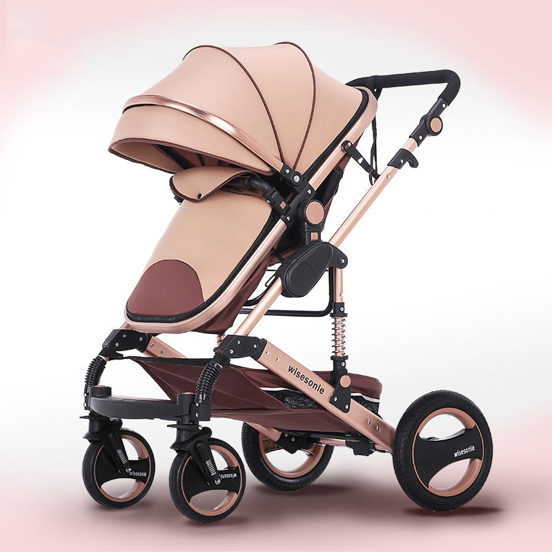Multi functional 2 in 1 Baby Stroller Neonatal Baby Carriage High Landscape - Mommies Care.