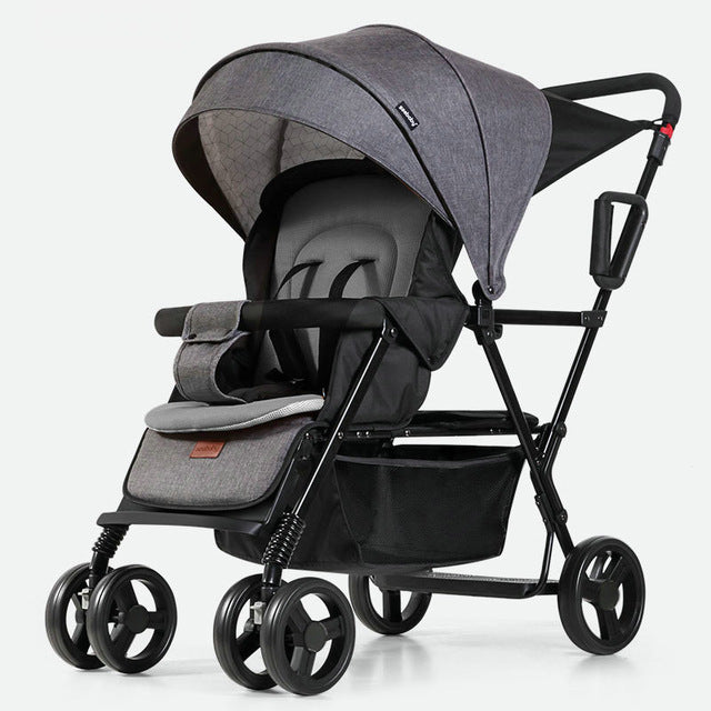 Fordable Sit And Stand Twin Stroller For Two Children - Mommies Care.