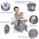 Ergonomic Hipseat Baby Carrier (6 IN 1) - Mommies Care.