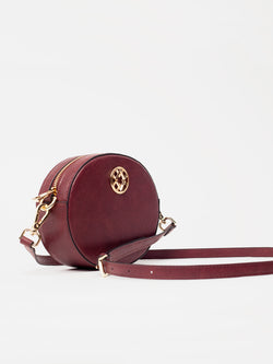 Lovve burgundy olivia oval bag front shot