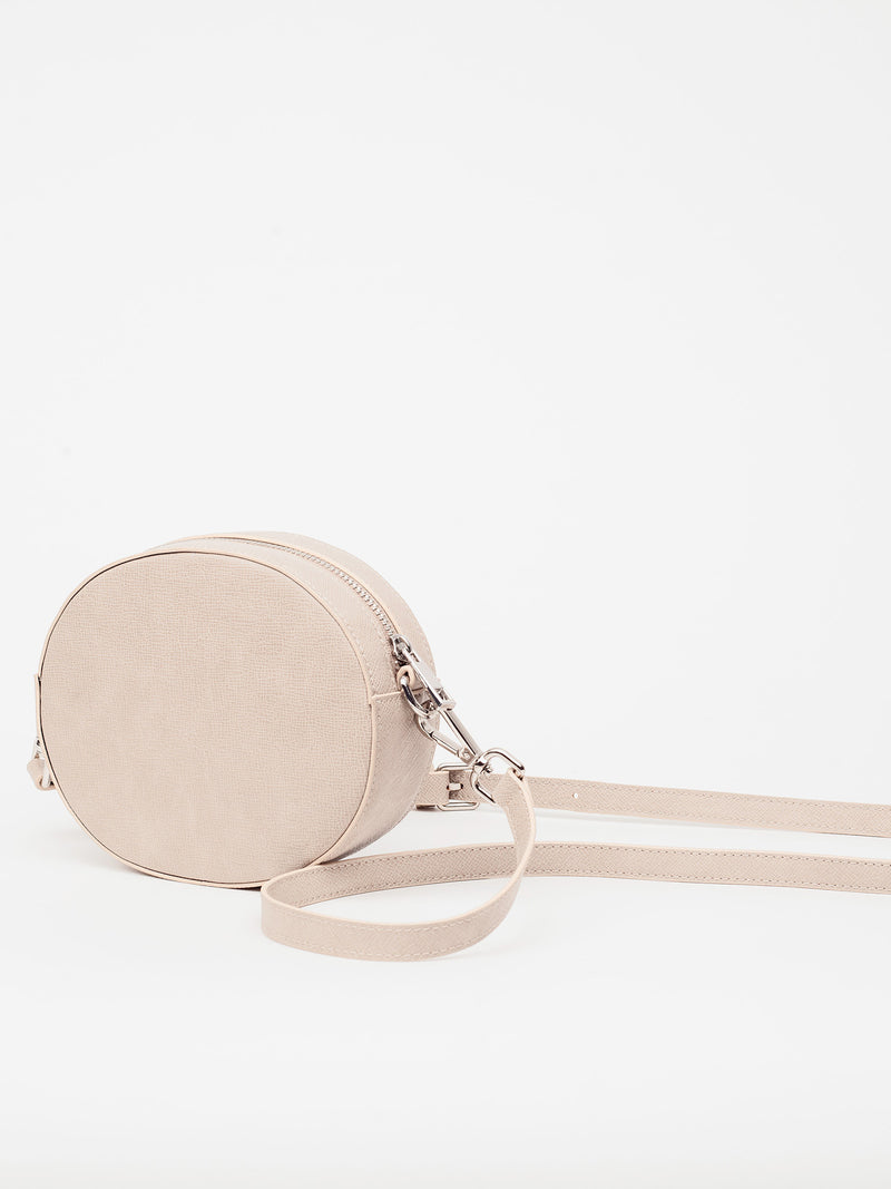 Lovve taupe olivia oval bag shot from the back'