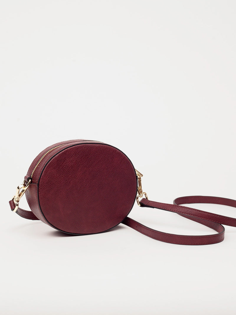 Lovve burgundy olivia oval bag back shot