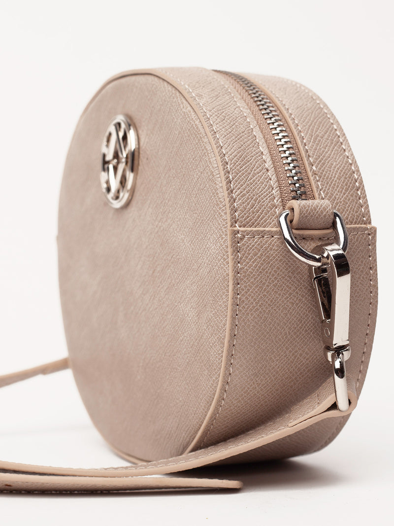 Lovve taupe olivia oval bag close up image