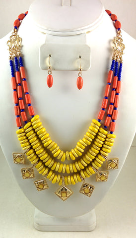 981182-Yellow Necklace