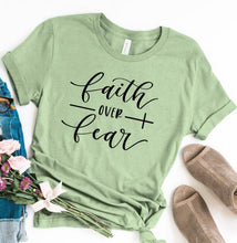 Load image into Gallery viewer, Faith Over Fear Christian T-Shirt