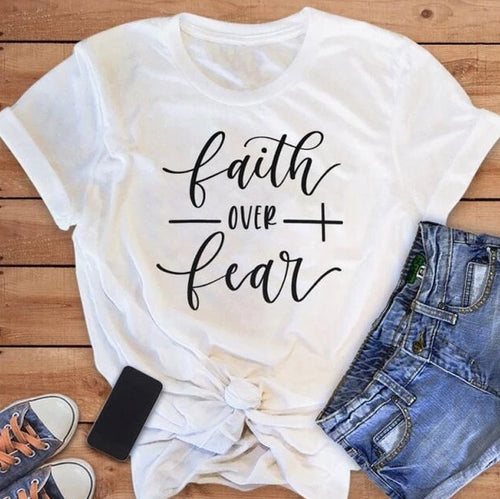 Faith Over Fear Christian T-Shirt