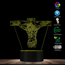 Load image into Gallery viewer, Jesus Cross 3D LED Lamp