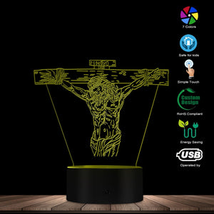 Jesus Cross 3D LED Lamp