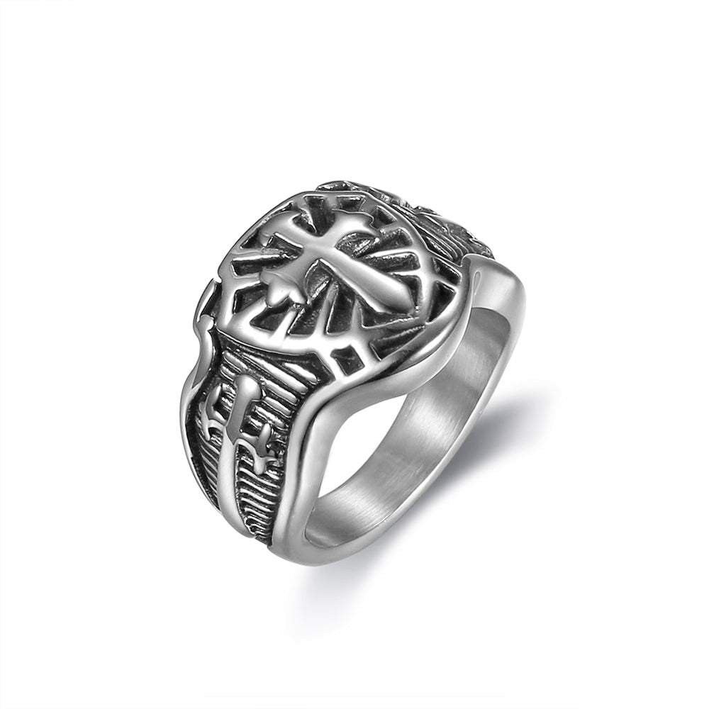 Cross Sword Christian Ring