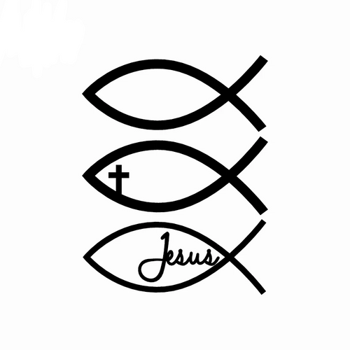 Jesus Fish Car Sticker