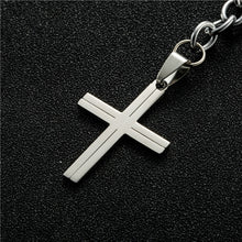 Load image into Gallery viewer, Cross Pendant Prayer Key-chain