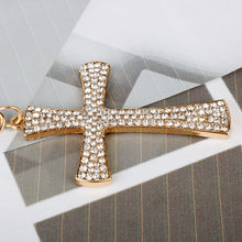 Load image into Gallery viewer, Crystal Jesus Cross Key Chain