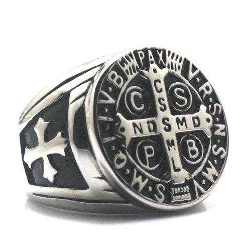Saint Benedict Christianity Ring