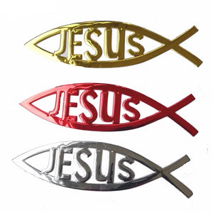 Jesus fish 3D Car Sticker