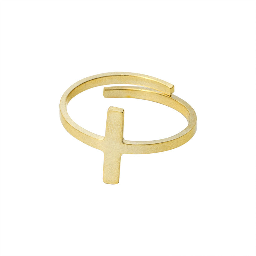 Re-sizable Jesus Cross Ring