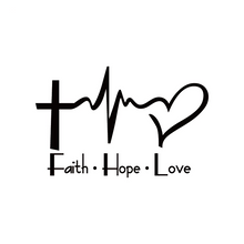 Load image into Gallery viewer, Faith Hope Love Car Sticker