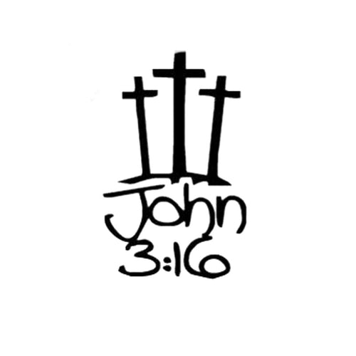 John 3:16 Car Sticker