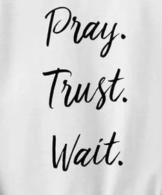 Pray Trust Wait Sweatshirt