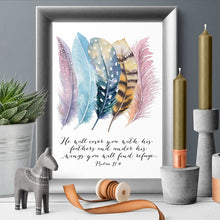 Load image into Gallery viewer, Psalm 91:4 Poster Canvas