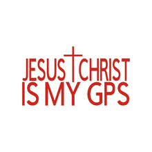 Load image into Gallery viewer, Jesus Christ is My GPS Sticker
