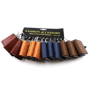 Mini Leather holy Bible Key-chain