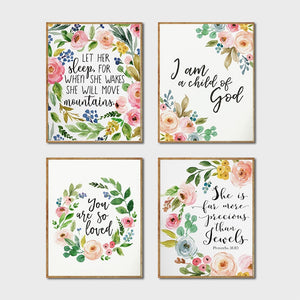 Floral Posters Watercolor Art
