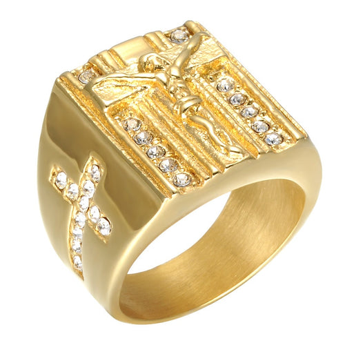 Jesus Cross Cubic Ring