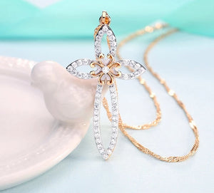 Jesus Crystal Necklace