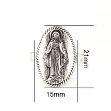 Load image into Gallery viewer, Virgin Mary Round Ring