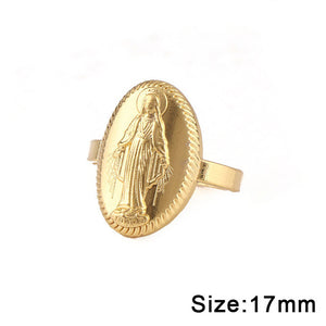 Virgin Mary Round Ring