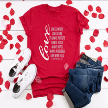 Load image into Gallery viewer, Love Never Fails Shirt