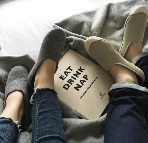 feet up. slippers on. unwind together.
