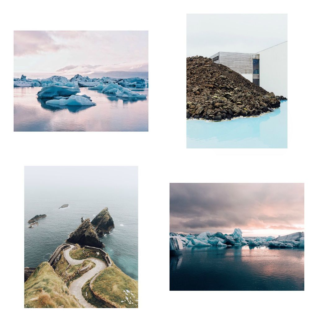 his instagram feed is filled with shots of icebergs waterfalls and hot springs that perfectly capture this unique country scroll back further on his feed