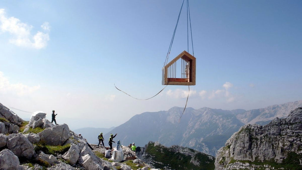 mahabis retreats // the airlifted slovenian alpine shelter