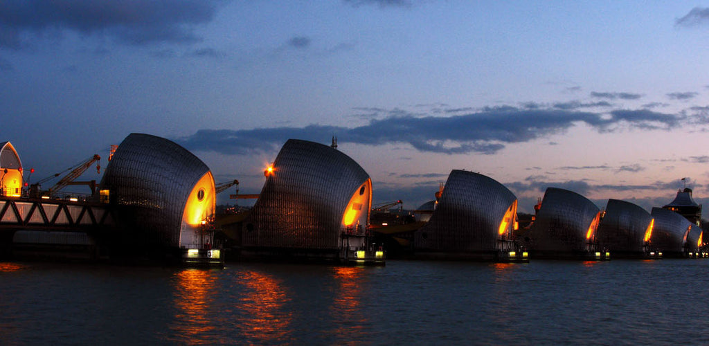 thames barrier docklands photography