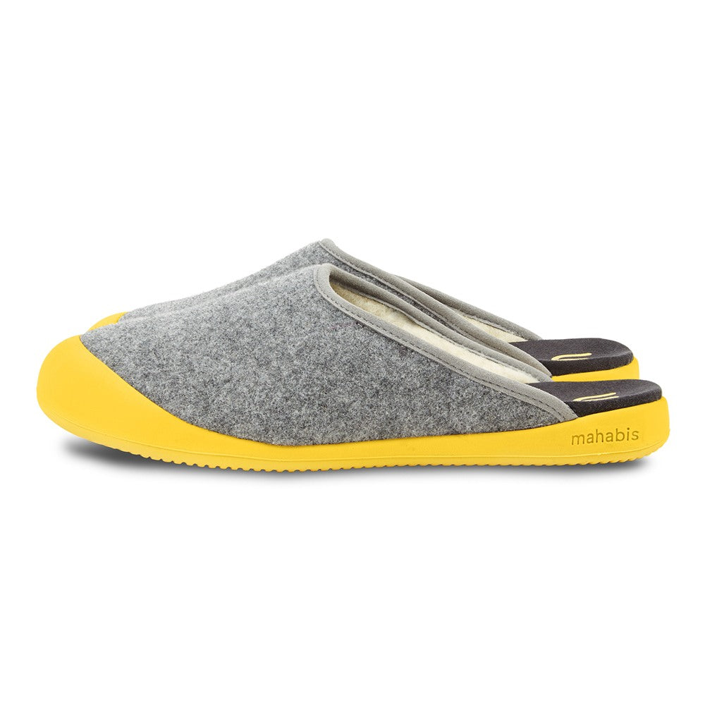 mahabis curve mule in larvik light grey