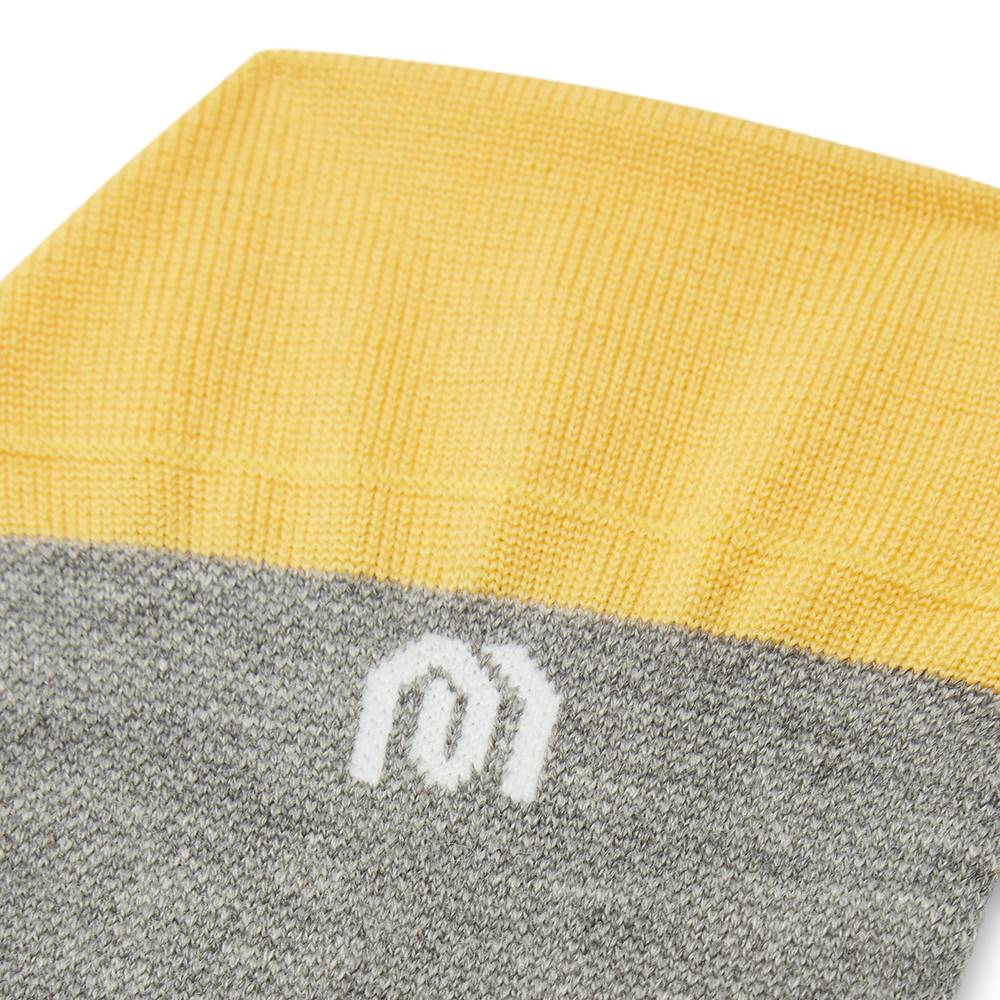 mahabis socks in larvik light grey x yellow