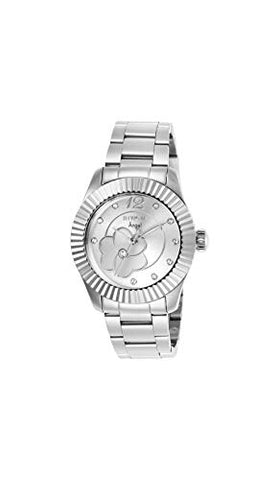 Invicta Women's 27445 Angel Quartz 3 Hand Silver Dial Watch