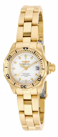 Invicta Women's 17037 Pro Diver Quartz 3 Hand White Dial Watch