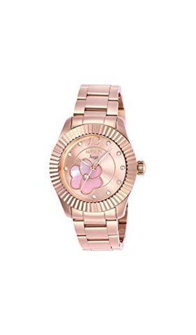 Invicta Women's 27443 Angel Quartz 3 Hand Rose Gold, Pink Dial Watch