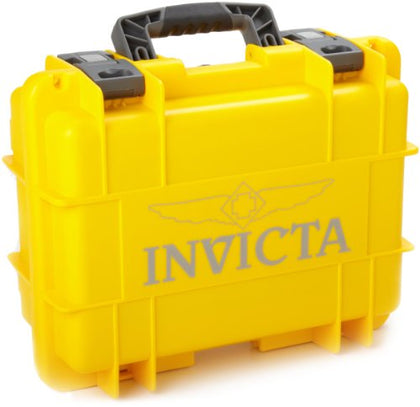 Invicta IG0098-RLC8S-Y 8 Slot Yellow Plastic Watch Box Case [Watch] Invicta